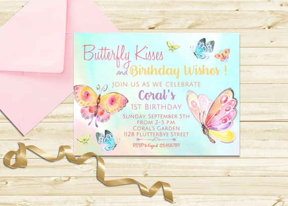 Butterfly Birthday Invitation