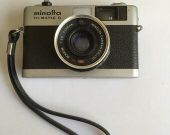1974  Minolta Hi-Matic G Vintage camera