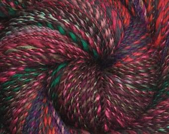 Handspun yarn - Hand painted Merino & mixed wool yarn, DK weight - 455 yards - Mostly Merino Patchwork
