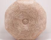 Cork fabric Pouf Ottoman- Footstool- Floor Ottoman- Cork fabric- by beckyzimmdesign