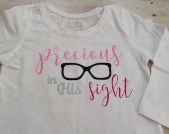 Precious in His sight little girl's long sleeve shirt