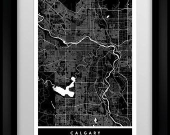 Calgary - Canada - Minimalist Map - Poster