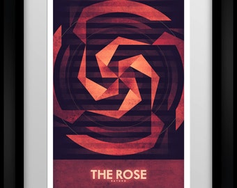 Space Travel Poster - Saturn - The Rose