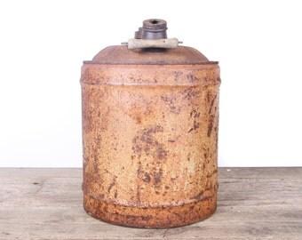 Antique Oil/Gas Can / 5 Gallon Vintage Oil Can / Antique Gas Can / Large Metal Oil Can / Old Oil Can Garage Decor /Automotive Collectible
