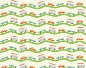 Wheels 2 by Deena Rutter for Riley Blake Designs, Road Cream, SKU C5042, 1 yd