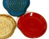 Red Pottery Spoon Rest, Handmade Ceramics, Kitchen Decor Lauren Bausch