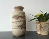 1960s West Germany White Lava Vase