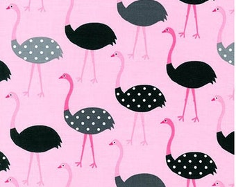 Pink Ostriches from Robert Kaufman's Urban Zoologie Collection by Ann Kelle