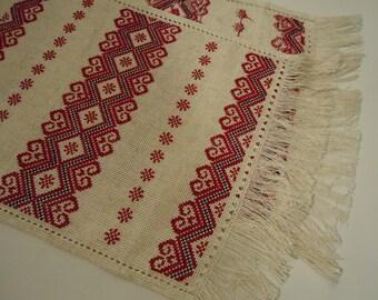 Ukrainian Hand Embroidered Towel, Rushnyk . Handmade