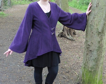 """Legendary Holly Jacket - Unlined with Clasp closure - Small in Plum - 34"""" chest"""