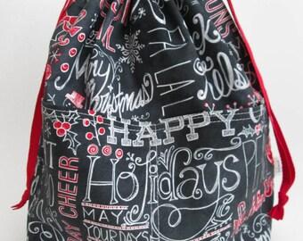Medium Reversible Drawstring Project Bag