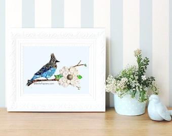 Birds Wall Art bluebird wall art | etsy