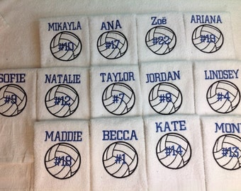 Volleyball gift etsy volleyball gift personalized volleyball towel sport towel monogram towel volleyball volleyball negle Images