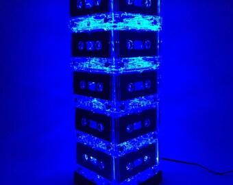 Blue Cassette Tape Lamp Mixtape Light Mood Light