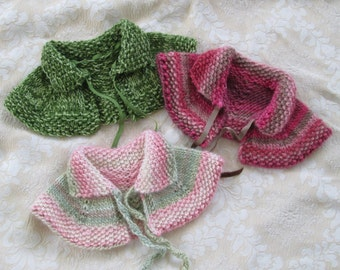 Toddler Girls Capelet Hand knit Wool Size 2T