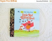 CHRISTMAS In July SALE Little Red Riding Hood, Original Little Little Golden Book, 1990s Miniature Classics 24 Pages-New Old Stock Unused