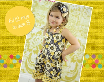 Rayna's Retro Romper PDF Pattern sizes 6/12 months to 8 girls