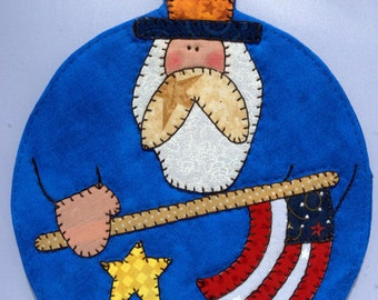 4th of July Uncle Sam Mug Rug 2