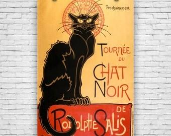 Le Chat Noir, 1896, by French Artist Théophile Alexandre Steinlen, Art Print Poster
