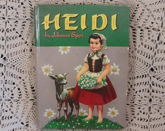 1955 Hardbound HEIDI by Johanna Spyri Published by Whitman Illustrated EXCELLENT