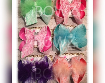New Limited Sparkle Glitter Lace Hairbow -girls -baby- sparkle- glitter -bow-mega bow-southern hairbow