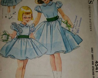 Vintage Mccalls 4541 Sewing Pattern 1958
