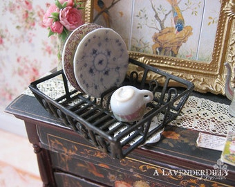 Country Dish Drainer for Dollhouse