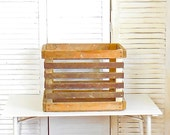Vintage Wooden Orchard Crate