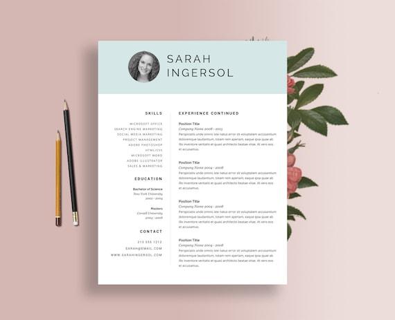 items similar to resume templates word blue header good resume best resume template job. Black Bedroom Furniture Sets. Home Design Ideas