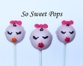 So Sweet Pops Happily Made Baby Girl with Pacifier Cake Pops