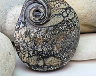 Celtic Stone, Lampwork Focal Bead, SRA, UK