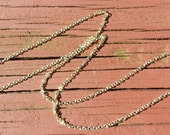 """14K Gold Fill Chain Necklace 16"""", 18"""", 20"""", 22"""", & 24"""" 14K Gold Fill 1.5 MM Cable Chain Finished With Choice of Clasp FREE SHIPPING"""
