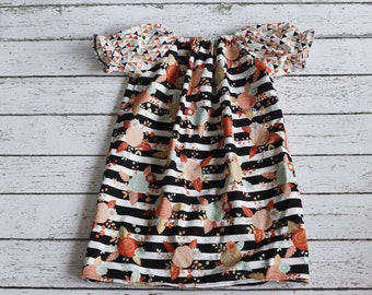 Girls Peasant Dress, size 4T, Ready to Ship