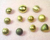 RESERVED  11 Assorted Vintage  Metal/Plastic Buttons - Shank Style - De-Stash No. 1689