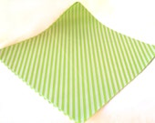 25 Green Diagonal Stripe WAX PAPER sheets-Pink Lemonade party shop EXCLUSIVE-basket liners-food safe