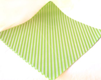 12 Green Diagonal Stripe WAX PAPER sheets-Pink Lemonade party shop EXCLUSIVE-basket liners-food safe