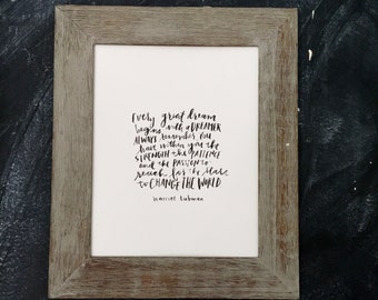 harriet tubman, quote, change the world, watercolor, black and white, print
