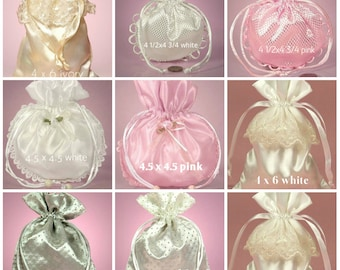 satin gift bags-select color and size