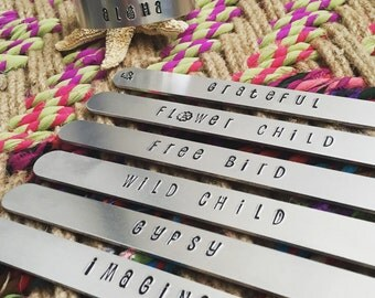 Mantra Cuff Bracelet - Hand Stamped Aluminum Cuff Bracelet - Personalized Motivational Bracelet - Cuff Bracelet