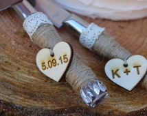 Wedding cake knife, Rustic Wedding Decor, Cake Knife, Cake cutter, Personalized Cake Serving Knife, Cake Cutter Set, Rustic Cake Server Set