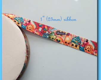 Shopkins 1 inch Grosgrain ribbon #1