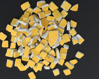 Tumbled Yellow Ceramic Pieces
