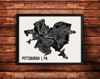 Pittsburgh Map Art Print | Pittsburgh Print | Pittsburgh Art Print | Pittsburgh Poster | Pittsburgh Gift | Wall Art