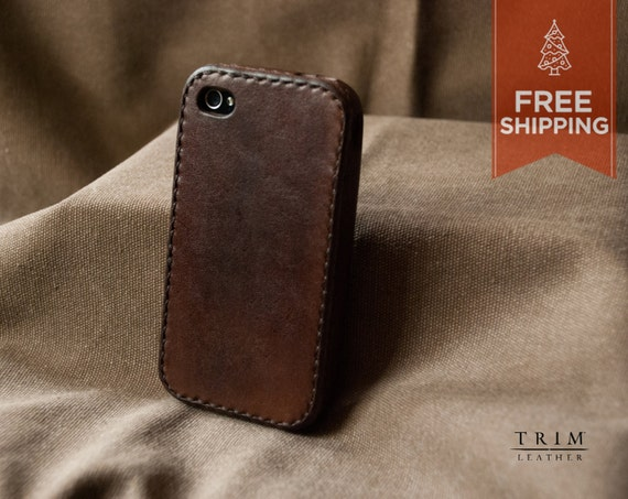iPhone 4 4S Leather Bumper Case [FREE SHIPPING] [Handmade] [Custom Colors]
