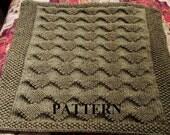 Knitting Pattern: Chunky Yarn Knit Baby Blanket in Traveling Diamonds