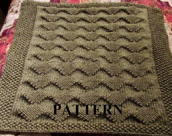 Knit Baby Blanket Pattern Chunky Yarn Baby Blanket Pattern
