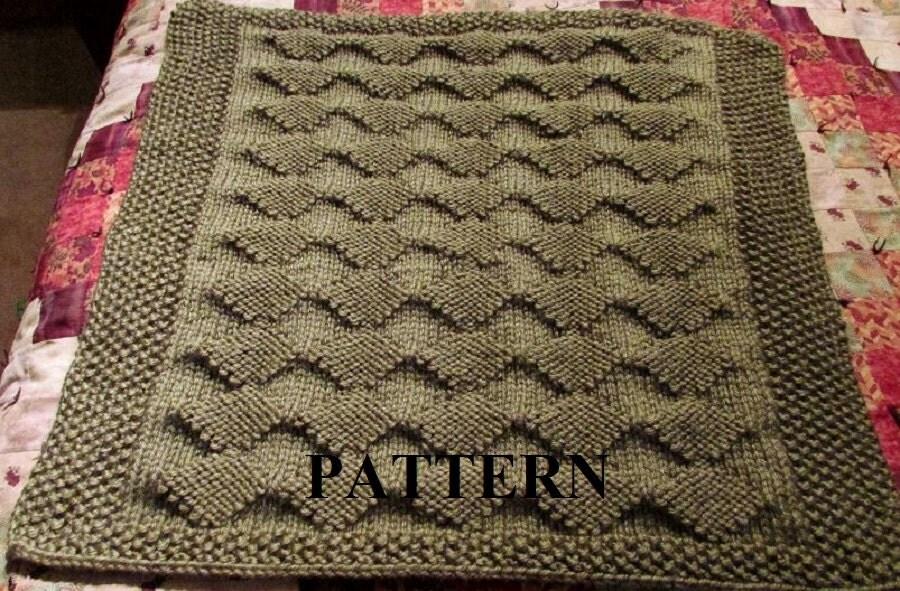 Knitting Stitch Patterns For Chunky Yarn : Knit baby blanket pattern pdf knitting diamond