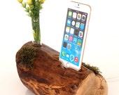 iPhone Dock plus Vase holder  - green - eco dock - docking station - iPhone 6s charging, iPhone 6s plus charging