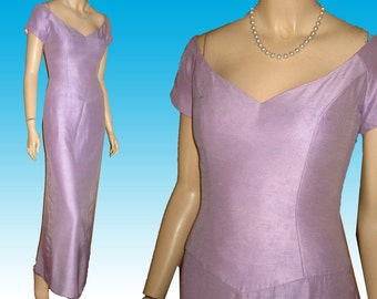 80s PROM BRIDESMAID Gown Dress 37 27 38 UNWORN by House of Bianchi in Lilac Formal Evening