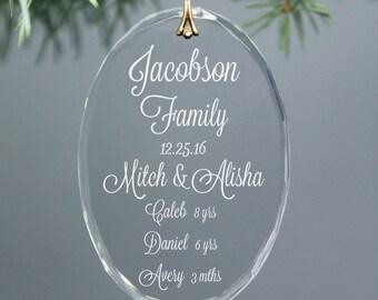 Family Christmas Ornament Or Blended Family Keepsake
